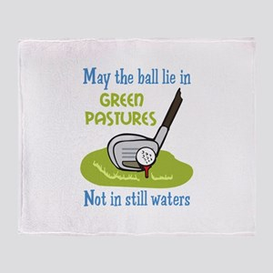 GOLFERS PRAYER Throw Blanket
