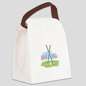 GOLF GIRL Canvas Lunch Bag