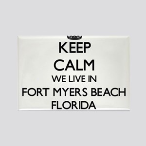 Keep calm we live in Fort Myers Beach Flor Magnets