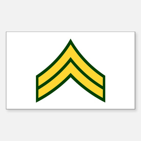 """Army E4 """"Class A's"""" Rectangle Decal"""