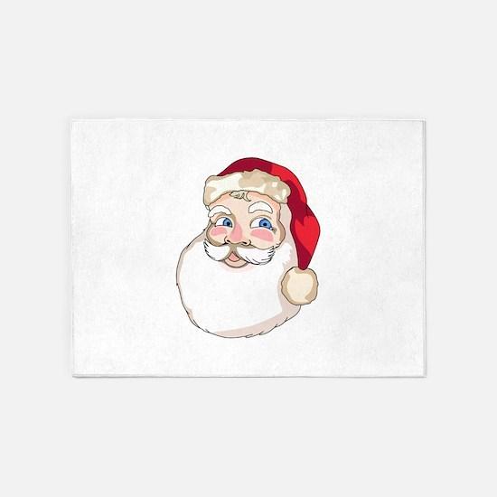 Santa Claus Face 5'x7'Area Rug