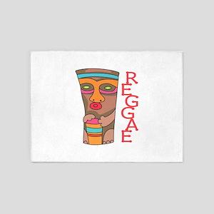 RAGGAE MUSIC 5'x7'Area Rug