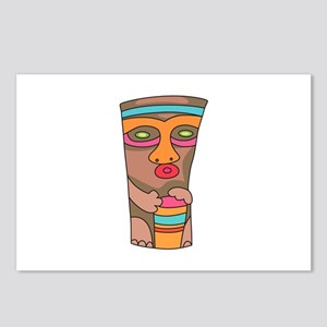 TIKI PLAYING DRUM Postcards (Package of 8)
