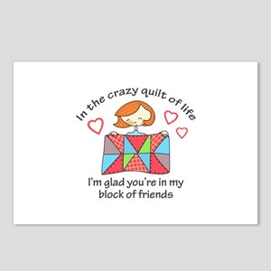 QUILT CRAZY LIFE Postcards (Package of 8)