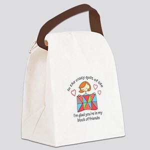 QUILT CRAZY LIFE Canvas Lunch Bag