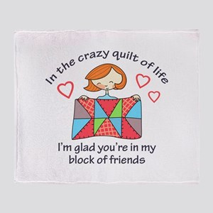 QUILT CRAZY LIFE Throw Blanket