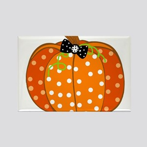 Polka Dot Pumpkin s Magnets