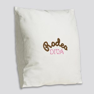 RODEO DIVA Burlap Throw Pillow