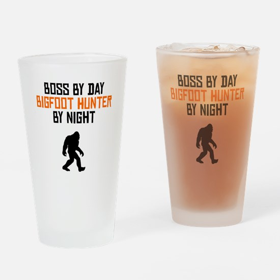 Boss By Day Bigfoot Hunter By Night Drinking Glass