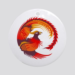 SMALL PHOENIX BIRD Ornament (Round)