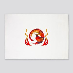 PHOENIX RISING FROM FLAMES 5'x7'Area Rug