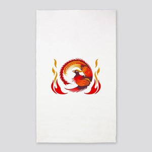 PHOENIX RISING FROM FLAMES Area Rug