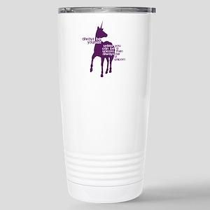 Purple Unicorns Stainless Steel Travel Mug