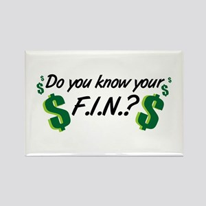 Do you know your FIN? Rectangle Magnet