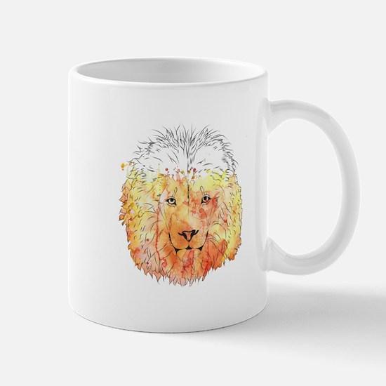 Watercolor Lion Mugs
