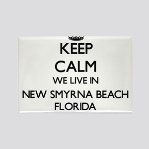 Keep calm we live in New Smyrna Beach Flor Magnets