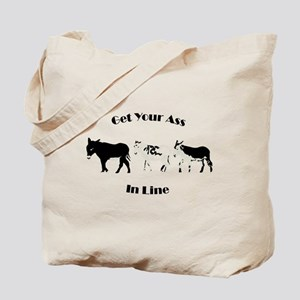 Get in line Tote Bag