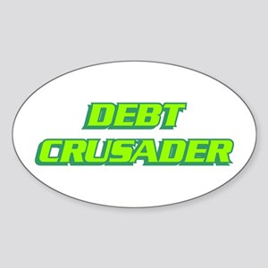 Debt Crusader Oval Sticker