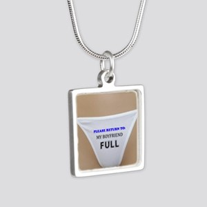 Please return to boyfriend Silver Square Necklace