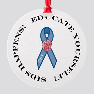 Educate Yourself Round Ornament