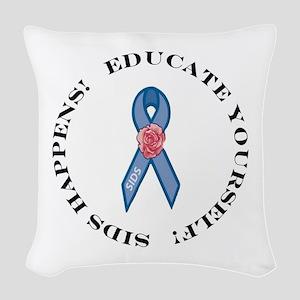 Educate Yourself Woven Throw Pillow