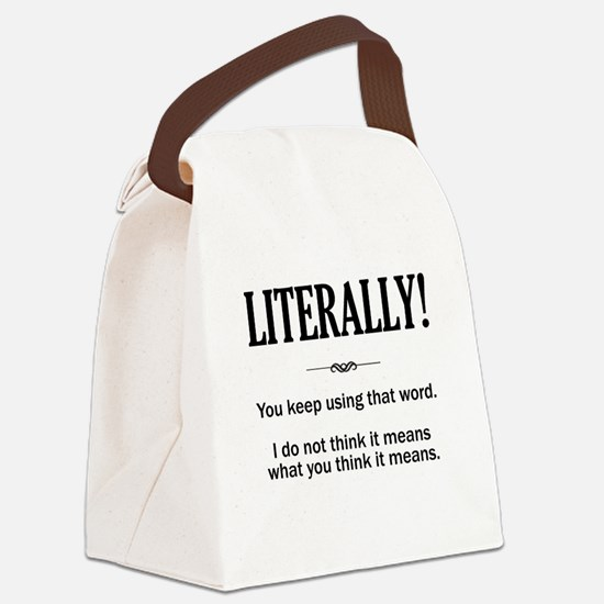 Literally Canvas Lunch Bag