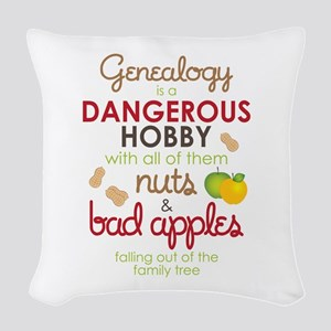 Genealogy Nuts Woven Throw Pillow