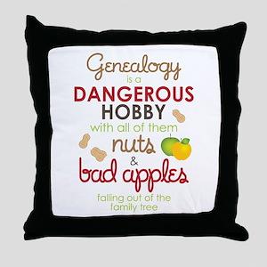 Genealogy Nuts Throw Pillow