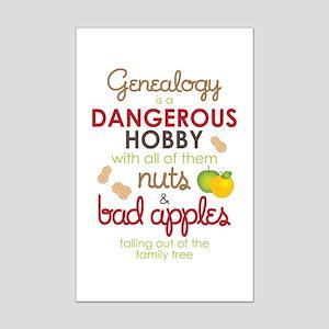Genealogy Nuts Mini Poster Print