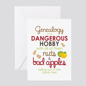 Genealogy Nuts Greeting Card