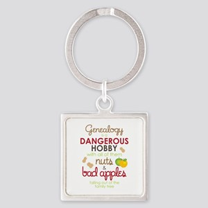 Genealogy Nuts Square Keychain