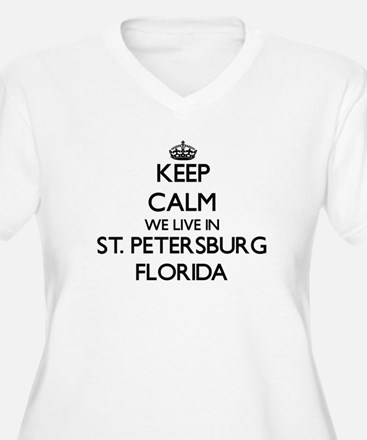 Keep calm we live in St. Petersb Plus Size T-Shirt