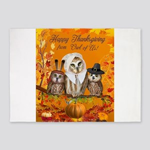 Happy Thanksgiving from Owl of Us! 5'x7'Area Rug