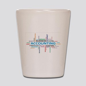 word cloud - accounting Shot Glass
