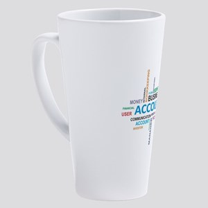 word cloud - accounting 17 oz Latte Mug