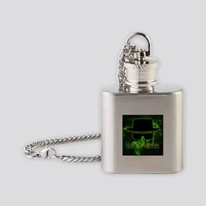 Let's Cook Black Flask Necklace