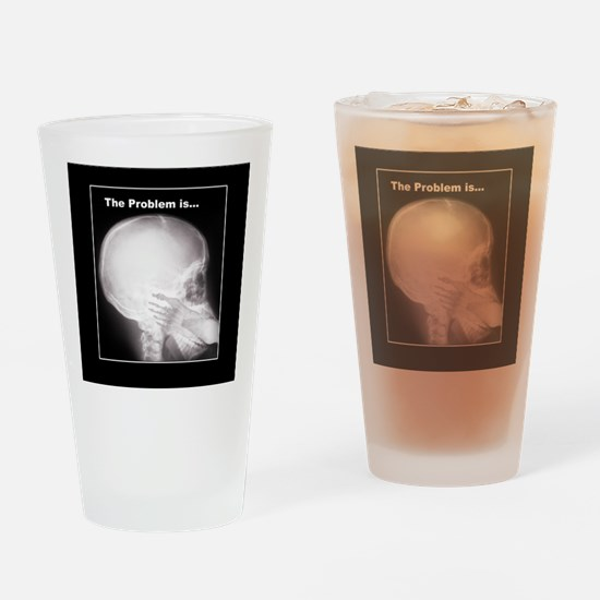 foot in mouth xray Drinking Glass