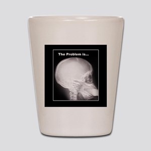 foot in mouth xray Shot Glass
