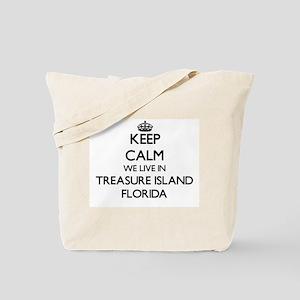 Keep calm we live in Treasure Island Flor Tote Bag