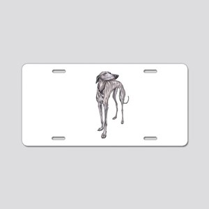 Olive the Whippet Aluminum License Plate