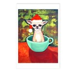 Teacup Chihuahua Santa Claus Postcards (Package of