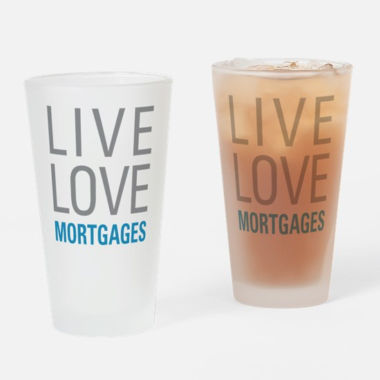 Mortgages Drinking Glass