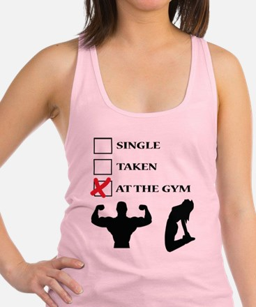 Unique Single%2c taken%2c gym Racerback Tank Top