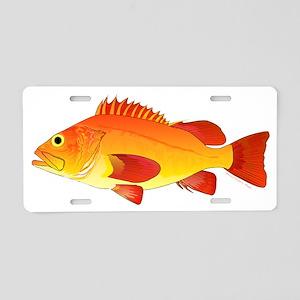 Yelloweye Rockfish Aluminum License Plate