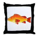 Yelloweye Rockfish Throw Pillow