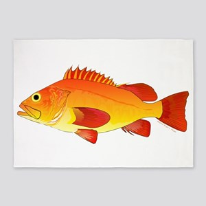 Yelloweye Rockfish 5'x7'Area Rug