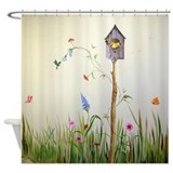 Birdhouse Shower Curtains