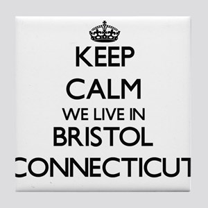 Keep calm we live in Bristol Connecti Tile Coaster