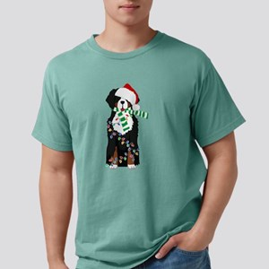 Christmas Bernese Mt Holiday Dog T-Shirt