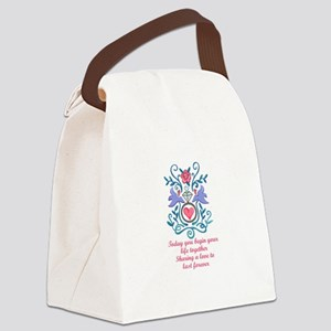 BEGIN YOUR LIFE TOGETHER Canvas Lunch Bag